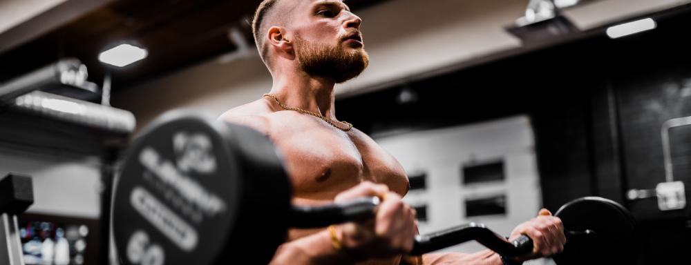 bodybuilder after great nutrition